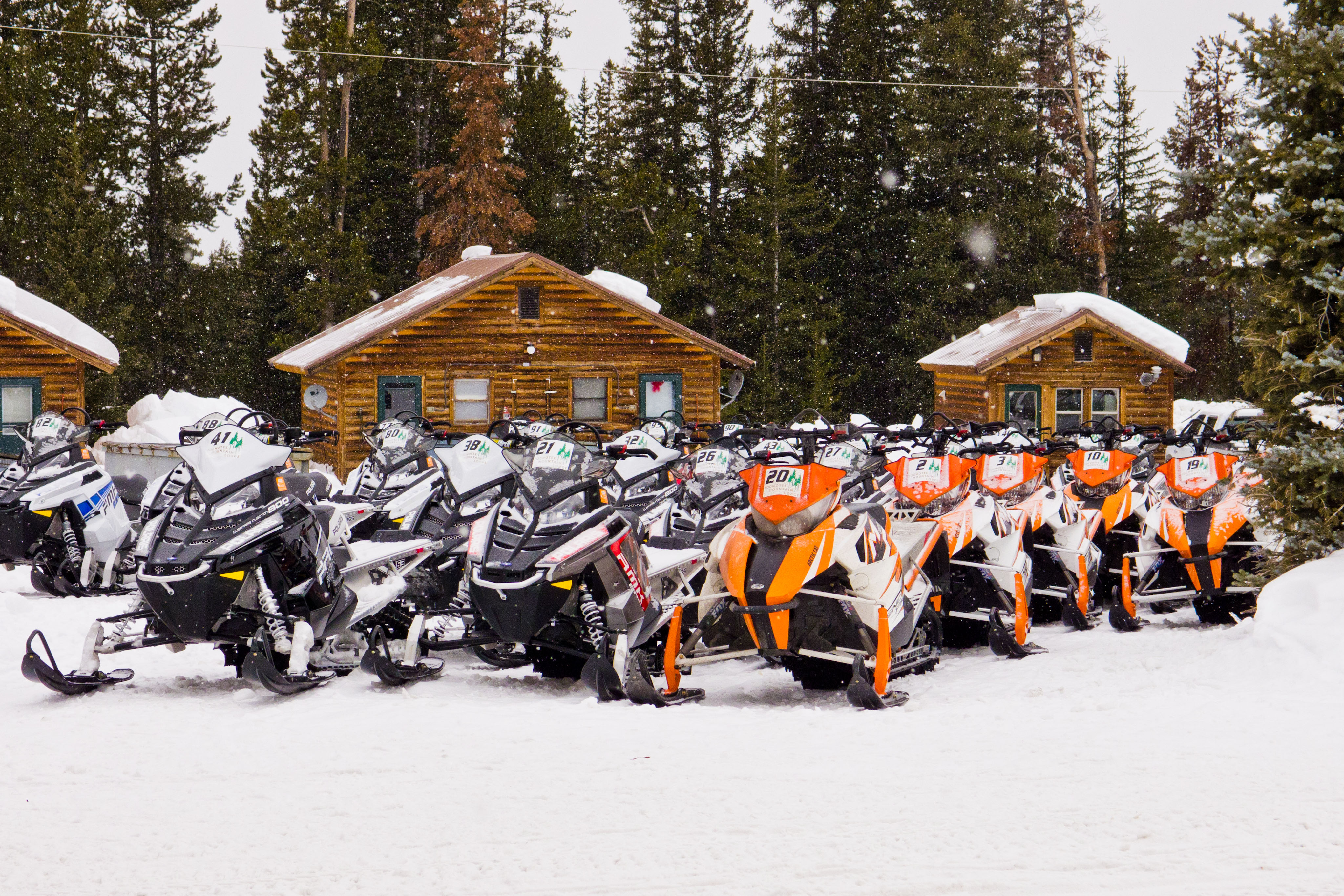 Snowmobiling at Togwotee