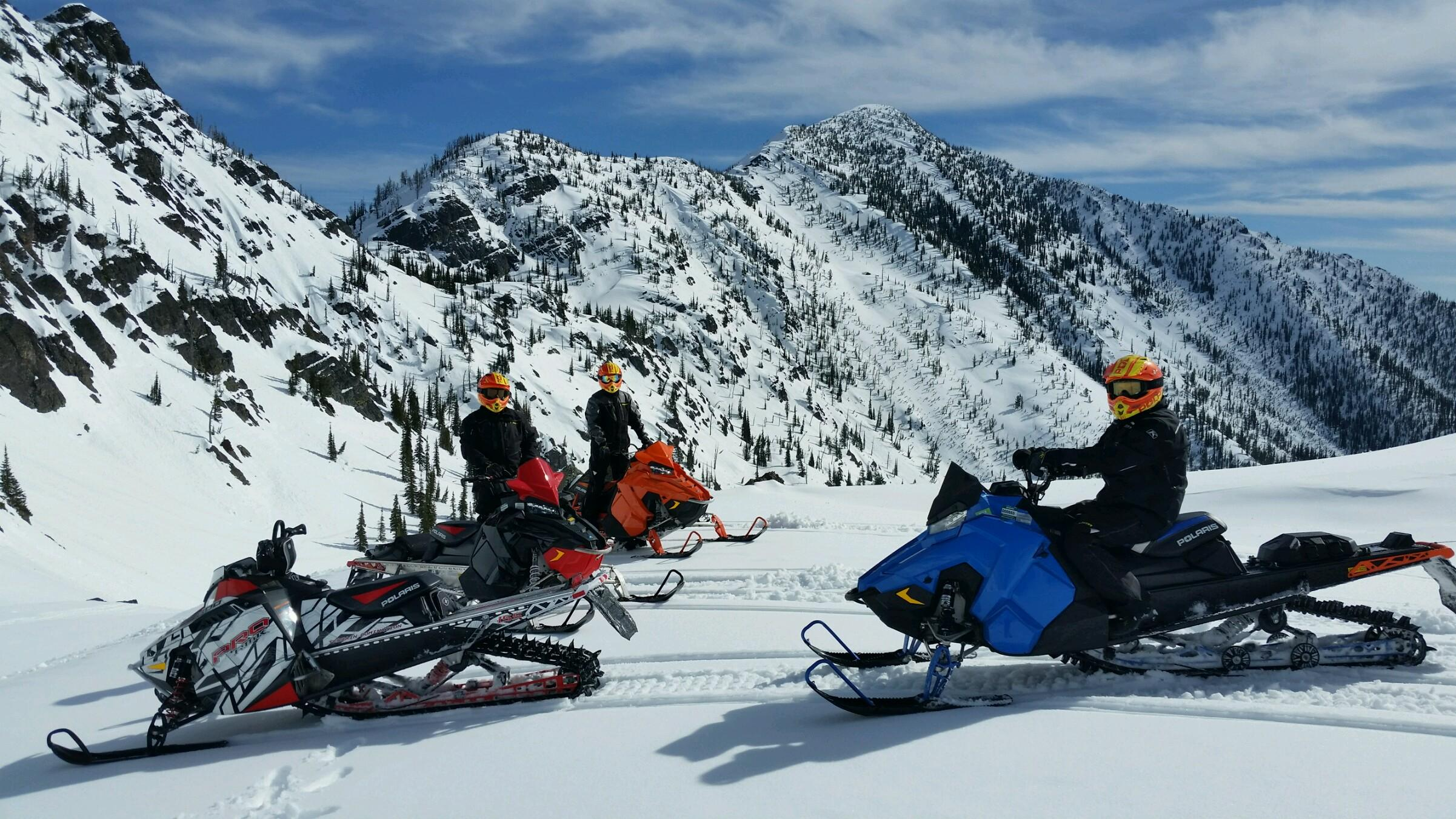 Snowmobiling in Western Montana