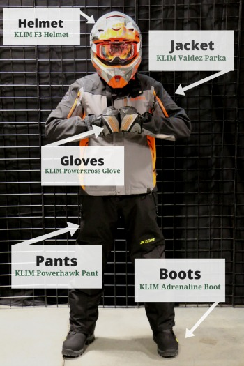 Snowmobile outfit outer layer